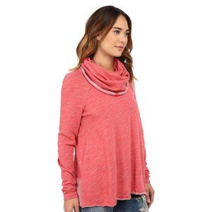 FP Beach Watermelon Pink Cocoon Cowl Pullover Top